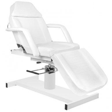 Kosmetologinis krėslas A210 su hidrauliniu mechanizmu, baltas 6