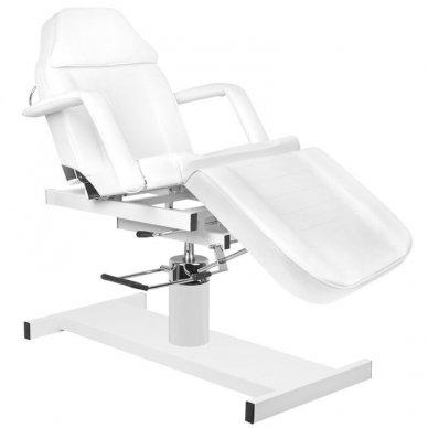 Kosmetologinis krėslas A210 su hidrauliniu mechanizmu, baltas 7