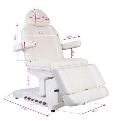 Kosmetologinis krėslas AZZURRO 708B EXCLUSIVE 3 varikliai, baltos sp. 2
