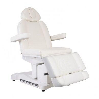 Kosmetologinis krėslas AZZURRO 708B EXCLUSIVE 3 varikliai, baltos sp.