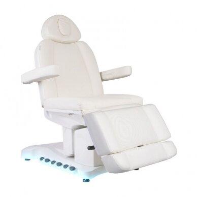 Kosmetologinis krėslas AZZURRO 708B EXCLUSIVE 3 varikliai, baltos sp. 10