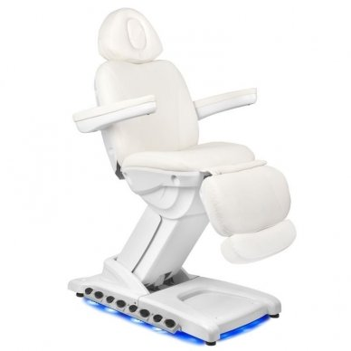 Kosmetologinis krėslas AZZURRO 872 EXCLUSIVE su 4 varikliais ,šildymo funkcija,  LED pašvietimu 7