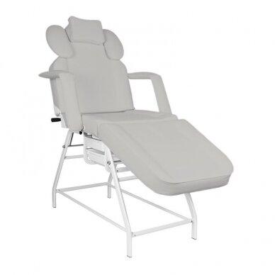 Kosmetologinis krėslas, baltos sp. pilkos sp.