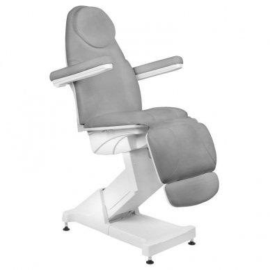 Kosmetologinis krėslas BASIC 158, trijų variklių, pilkos sp.