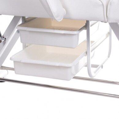 Kosmetologinis/pedikiūro krėslas BW-263, baltos sp. 7