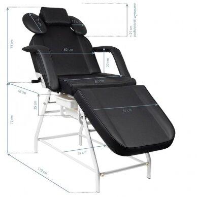 Kosmetologinis krėslas, baltos sp. pilkos sp. 2
