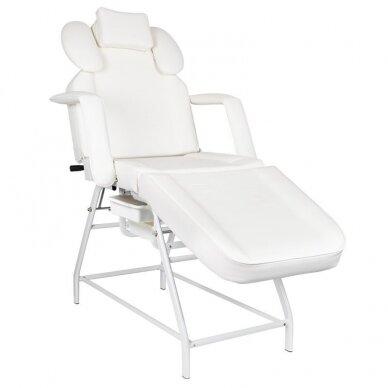 Kosmetologinis krėslas, baltos sp.