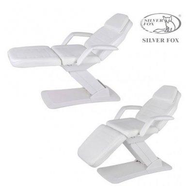 Kosmetologinis krėslas SILVER FOX 2214A, 3 varikliai, baltos sp. 2