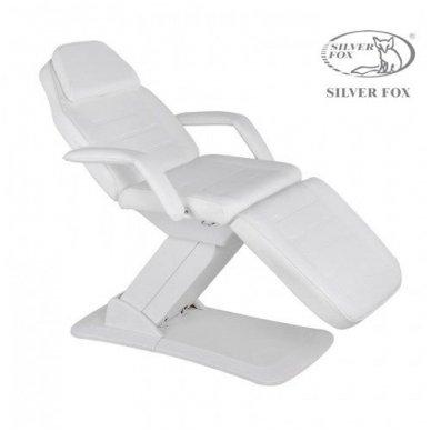 Kosmetologinis krėslas SILVER FOX 2214A, 3 varikliai, baltos sp.