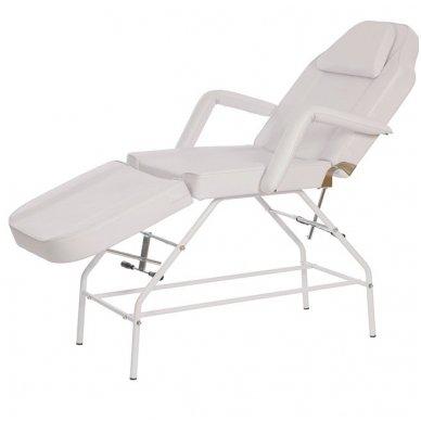 Kosmetologinis mechaninis krėslas - lova Weelko Mylo, baltos sp.