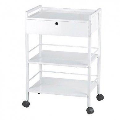 Kosmetologinis vežimėlis Weelko Easy, baltos sp.