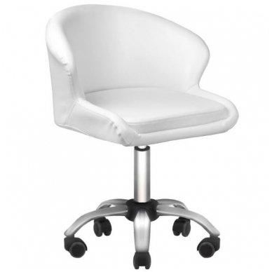 Kosmetologo kėdė LADY WHITE, baltos sp.