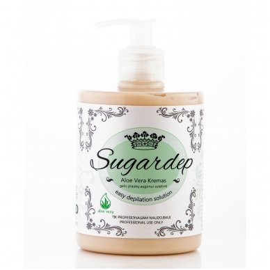 Kremas-gelis plaukų augimui sulėtinti Aloe Vera, Sugardep, 500 ml