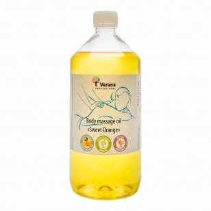 Kūno masažo aliejus Apelsinas, 1000 ml.