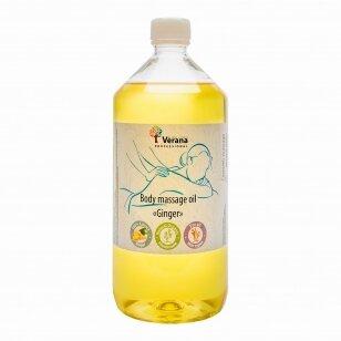 Kūno masažo aliejus Imbieras, 1000 ml.