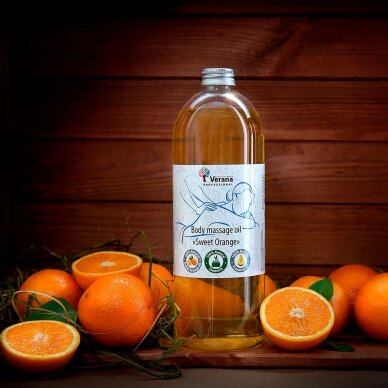 Kūno masažo aliejus Apelsinas, 250ml 2