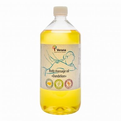 Kūno masažo aliejus Kiaulpienė, 1000 ml.