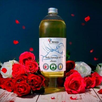 Kūno masažo aliejus Rožė Verana, 250ml 2