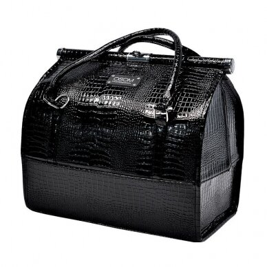 Lagaminas makiažo priemonėms Osom Professional Leather Soft, juodos sp.