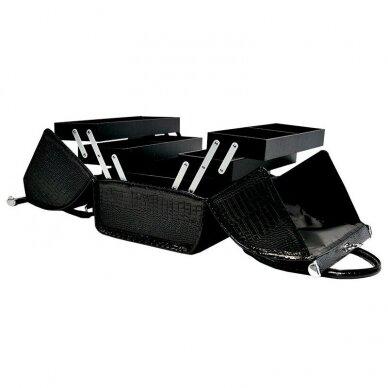 Lagaminas makiažo priemonėms Osom Professional Leather Soft, juodos sp. 2