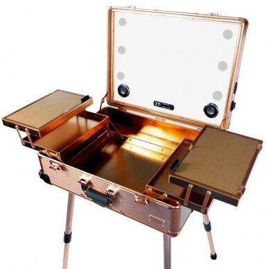 Lagaminas makiažo priemonėms su apšvietimu Osom Professional GOLD 5