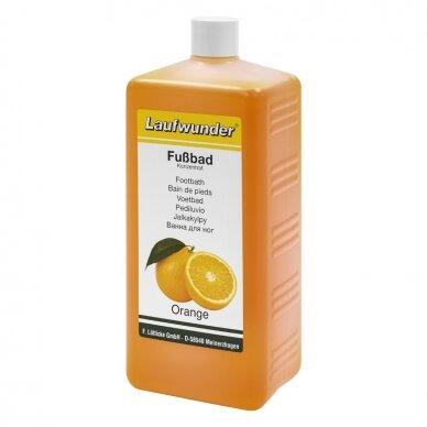 "Laufwunder Footbath ""Orange""– drėkinamoji, gaivinamoji, kojų vonelė su apelsinmedžio ekstraktu, 1L"