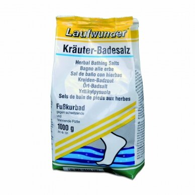 Laufwunder Herbal bath, vonios druska – su žolelių ekstraktais, 1kg.