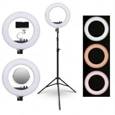 LED Lempa Ring (žiedinė ) su veidrodžiu ir telefono laikikliu