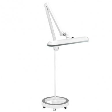 LED lempa ELEGANTE 801-S ZE su stovu, baltos sp.