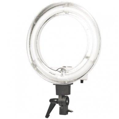 """Led lempa RING 12"""" 35W, fluoriscentinė balta su štatyvu 3"""