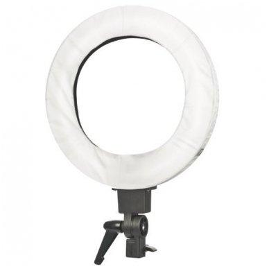 """Led lempa RING 12"""" 35W, fluoriscentinė balta su štatyvu 4"""