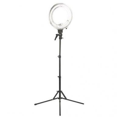 """Led lempa RING 12"""" 35W, fluoriscentinė balta su štatyvu"""