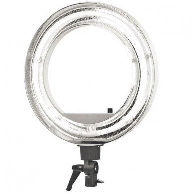 """Led lempa RING 18"""" 55W, fluoriscentinė balta su štatyvu 5"""