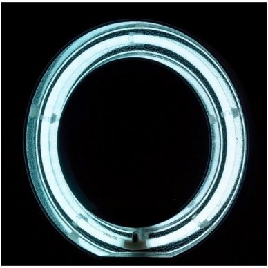 "Led lempa RING 18"" 55W su stovu 6"