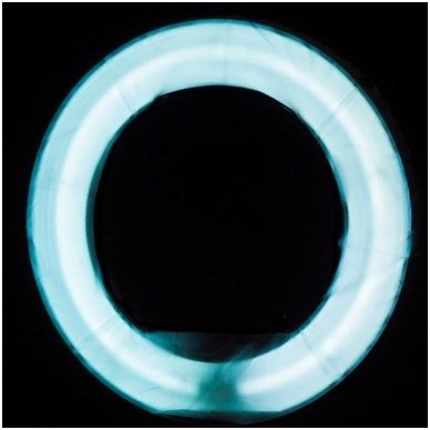 """Led lempa RING 18"""" 55W, fluoriscentinė balta su štatyvu 7"""