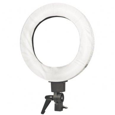 """Led lempa RING 18"""" 55W, fluoriscentinė balta su štatyvu 9"""