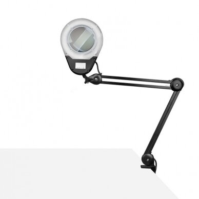 LED montuojama lempa su lupa ECO BLACK 6