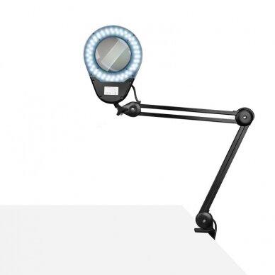 LED montuojama lempa su lupa ECO BLACK 8