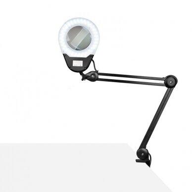 LED montuojama lempa su lupa ECO BLACK 9