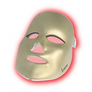 LED šviesos terapijos kaukė veidui Be OSOM, fotodinaminė šviesos terapija, auksinės sp.