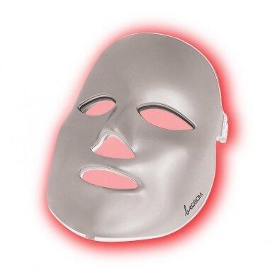 LED šviesos terapijos kaukė veidui Be OSOM, fotodinaminė šviesos terapija, sidabrinės sp.