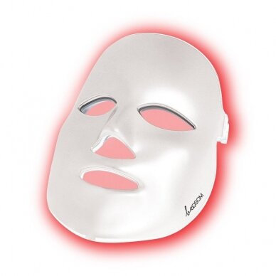 LED šviesos terapijos kaukė veidui Be OSOM, fotodinaminė šviesos terapija, baltos sp.