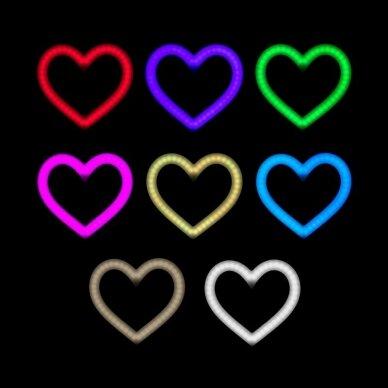 LED vizažo lempa RING HEART, 48W, SKIRTINGOS apšvietimo spalvos 3