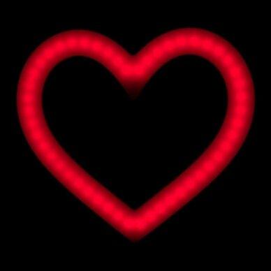 LED vizažo lempa RING HEART, 48W, SKIRTINGOS apšvietimo spalvos 4