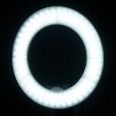 """LED žiedinė vizažo lempa RING LIGHT 10"""" 8W, aukštis 55cm, baltos sp. 4"""