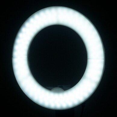 """LED žiedinė vizažo lempa RING LIGHT 10"""" 8W, aukštis 55cm 4"""