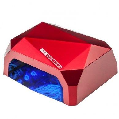 Lempa nagams DIAMOND 2 in 1 UV LED+CCFL 36W, raudonos sp.