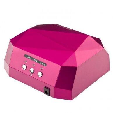 Lempa nagams DIAMOND 2 in 1 UV LED+CCFL 36W, rožinės sp. 2