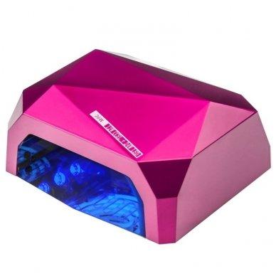Lempa nagams DIAMOND 2 in 1 UV LED+CCFL 36W, rožinės sp.