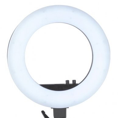 "Lempa RING LIGHT 18"" 48W LED su stovu, juodos sp. 5"